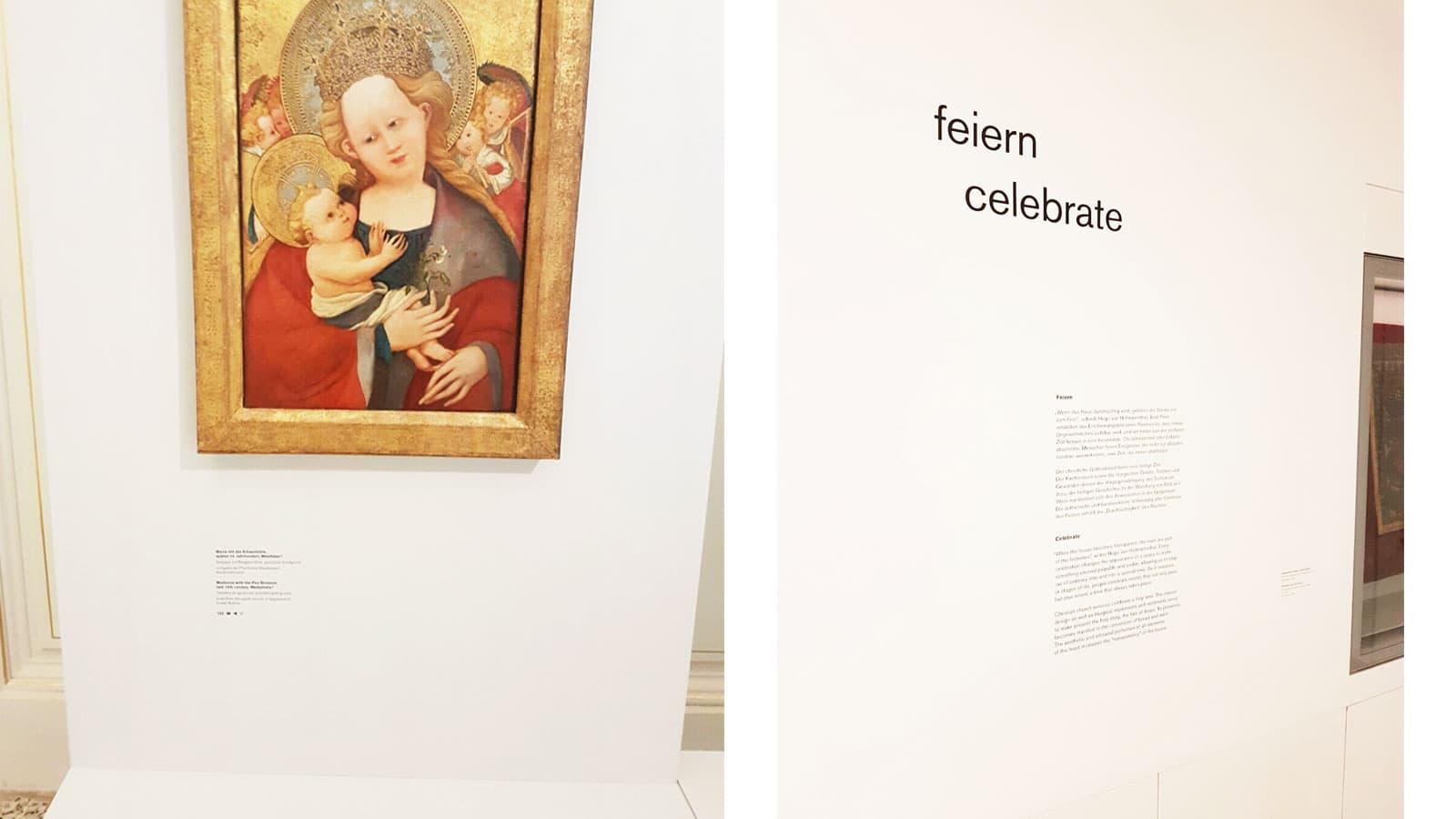 DOMMUSEUM WIEN: Ausstellungsmontage und -beschriftung, Leitsystem: Folien auf Glas und Wand