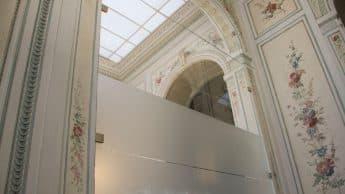 Sichtschutz, Glasmarkierung, Folienbeklebung LFPE, PALAIS KINSKY