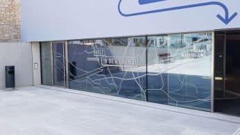 Landesausstellung niederösterreich, fassadenfolierung, ausstellungsgestaltung