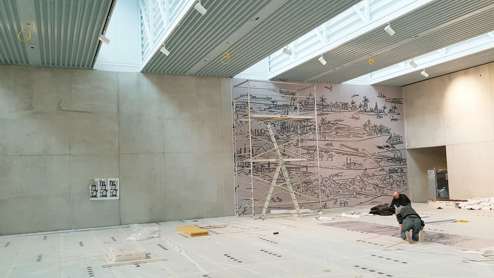 Landesausstellung niederösterreich, wandfolierung, ausstellungsgestaltung